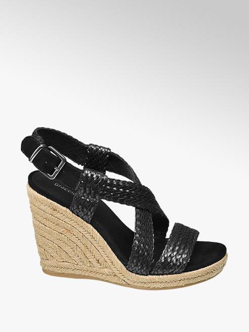 Graceland Дамски сандали с клиновиден ток