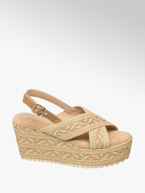 Graceland Beige plateau sandalette