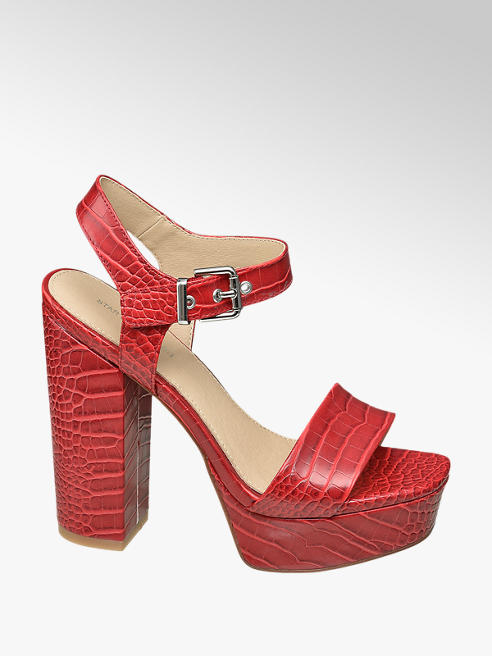 Star Collection Rode sandalette crocoprint