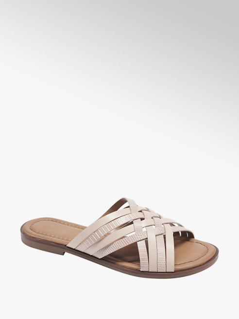Graceland Lichtroze sandaal gekruiste bandjes