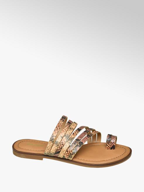 Graceland Bruine sandaal slangenprint