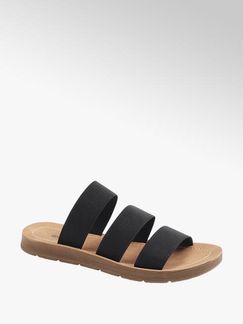 Graceland Zwarte slipper elastisch