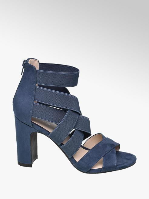 Graceland Blauwe sandalette elastische banden
