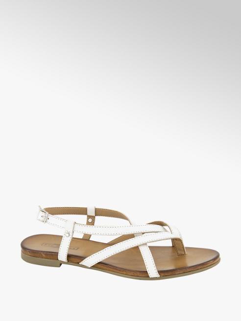 5th Avenue Witte leren sandaal
