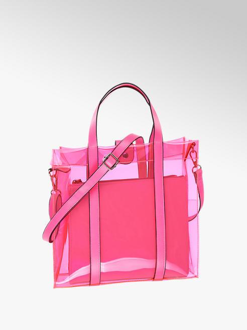 Catwalk różowa torebka damska Catwalk z transparentnego materiału
