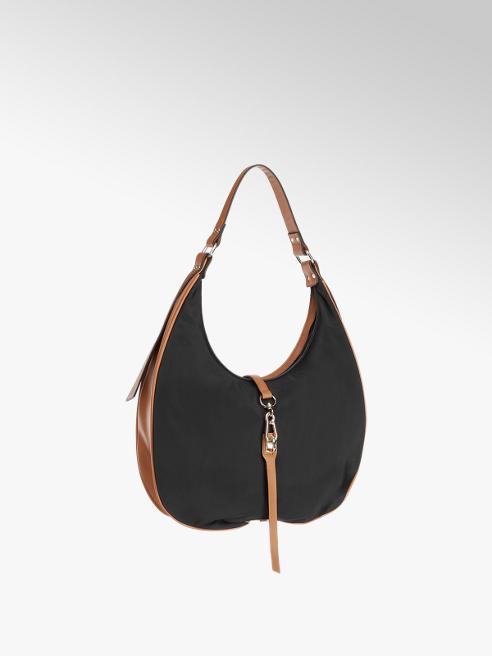 Graceland Black and Tan Shoulder Bag
