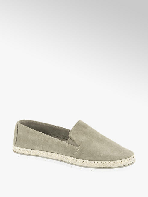 5th Avenue Taupe suède espadrille touwzool