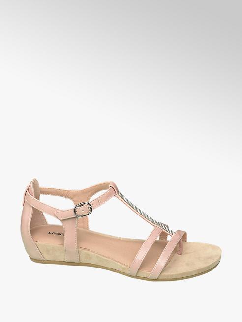 Graceland Roze sandaal strass