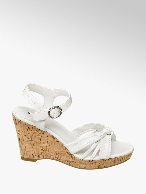 Graceland Witte sandalette gesp