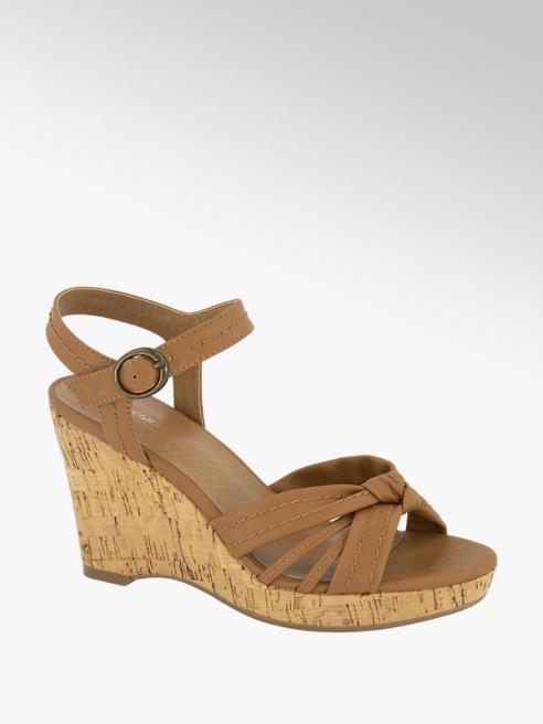 Graceland Cognac sandalette gesp
