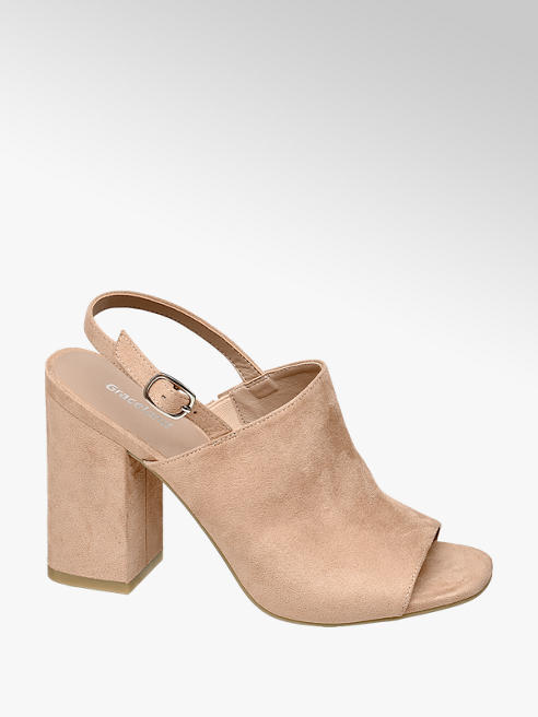 Graceland Roze sandalette blokhak