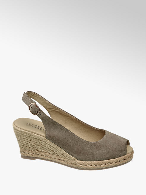 5th Avenue Taupe suède sandalette