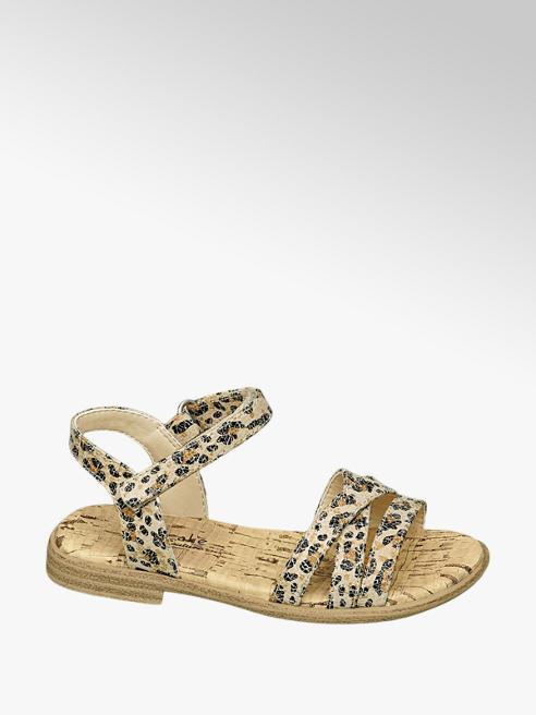 Cupcake Couture Beige sandaal panterprint