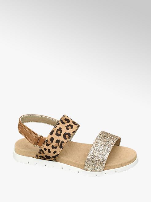 Cupcake Couture Gouden sandaal panterprint