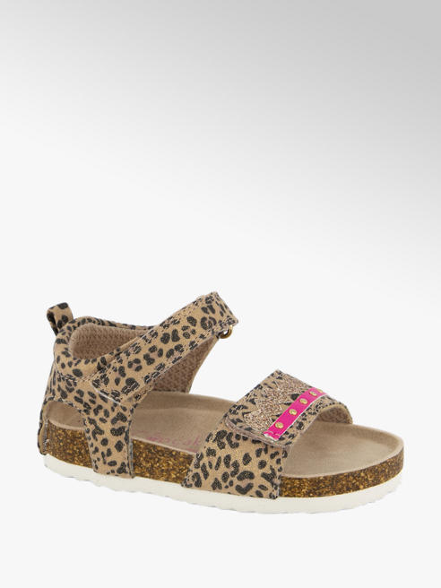 Cupcake Couture Lichtbruine sandaal panterprint