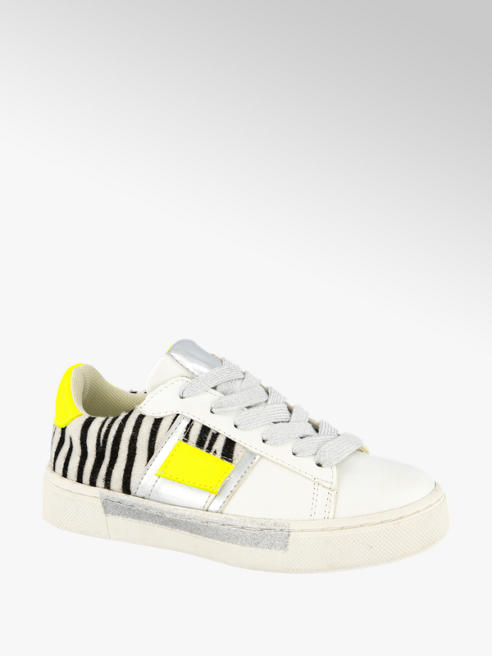 Cupcake Couture Witte sneaker zebraprint