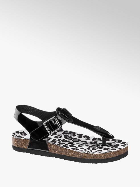 Graceland Zwarte lak sandaal