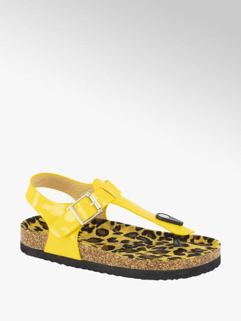 Graceland Gele lak sandaal
