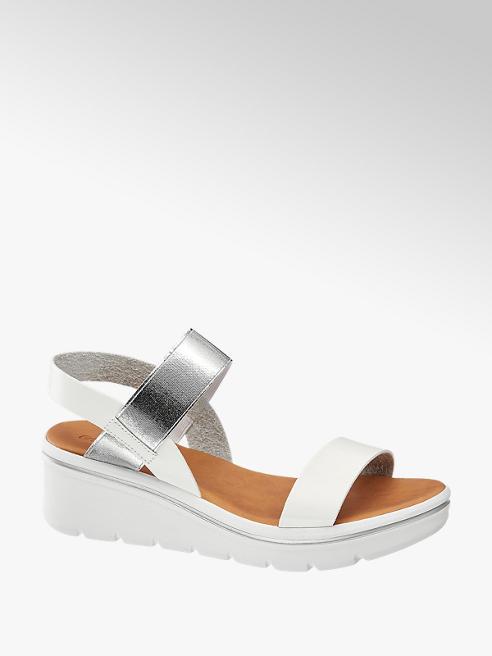 Graceland Witte sandalette metallic