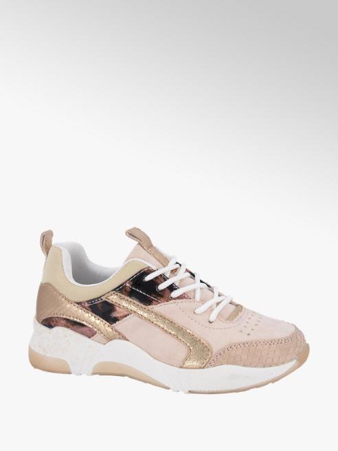 Graceland Roze sneaker panterprint