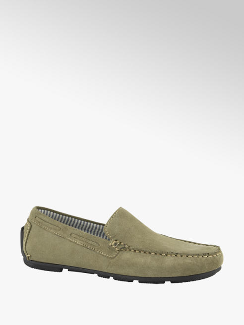 AM shoe Taupe suède loafer