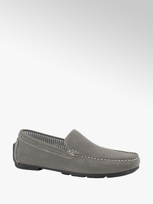 AM shoe Lichtgrijze suède loafer