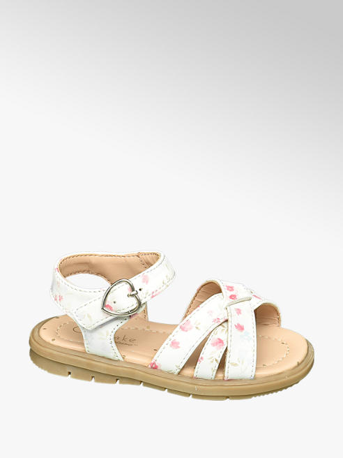 Cupcake Couture Toddler Girls Floral Rip Tape Sandals
