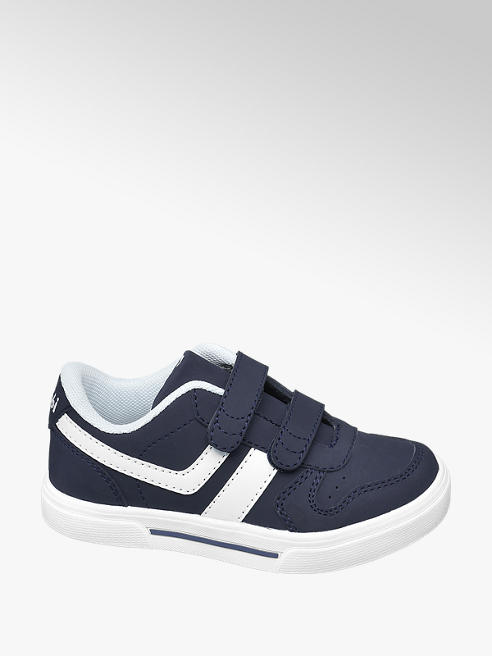 Bobbi-Shoes Toddler Boy Navy Twin Strap Trainers