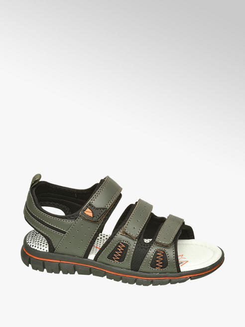 Memphis One Junior Boys Khaki Triple Strap Sandals