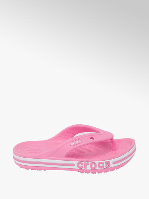 Crocs Junior Girls Crocs Bayaband Pink Flip Flops