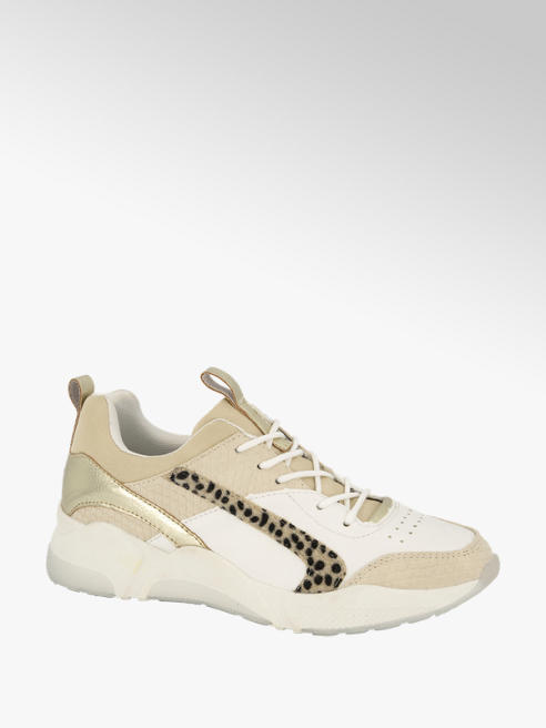 Graceland Beige sneaker cheetahprint