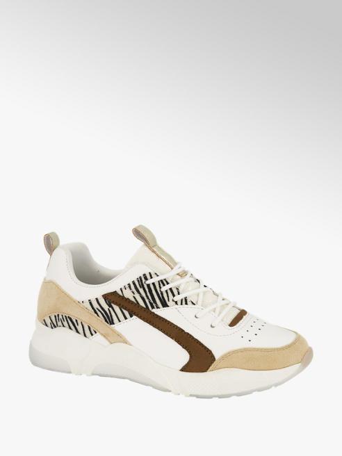 Graceland Witte sneaker zebraprint