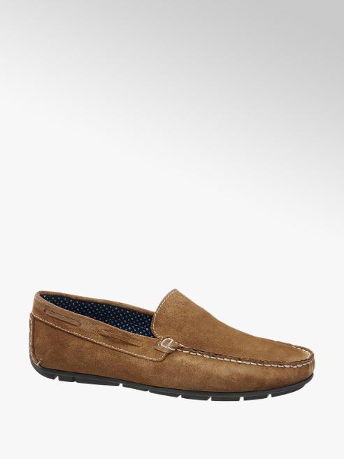 AM shoe Cognac suède loafer