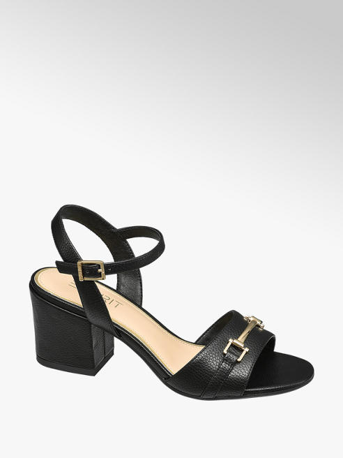 Esprit Zwarte sandalette blokhak