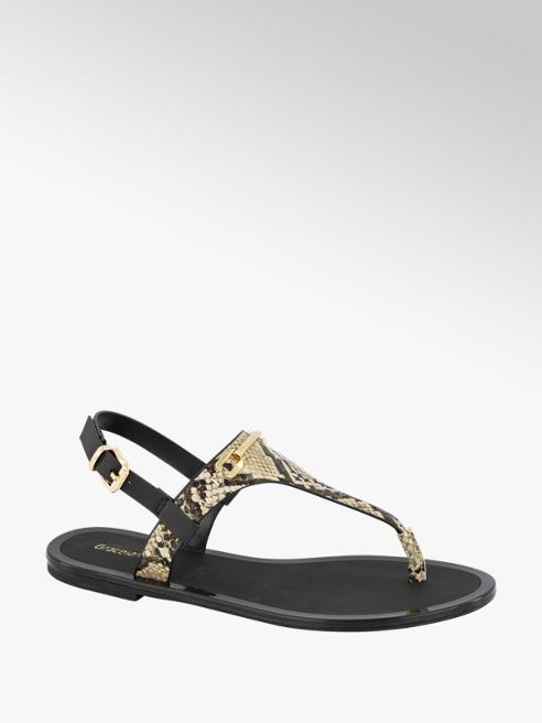Graceland Beige sandaal slangenprint