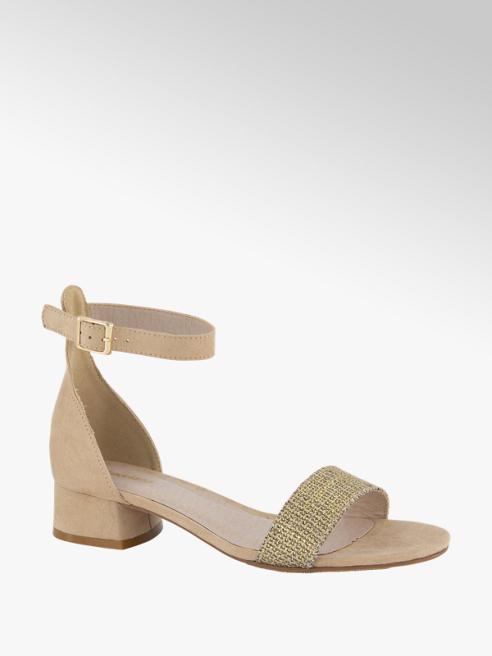 Graceland Beige sandaal gevlochten