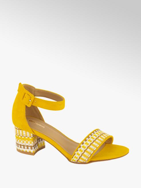 Graceland Oker gele sandaal gevlochten