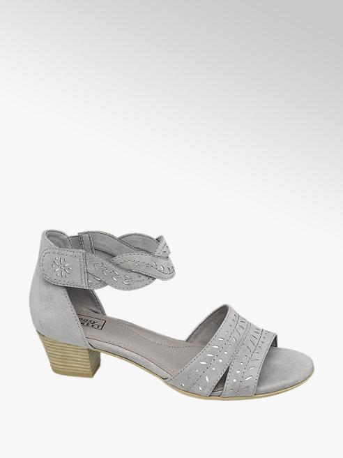 Easy Street Grijze sandalette perforatie