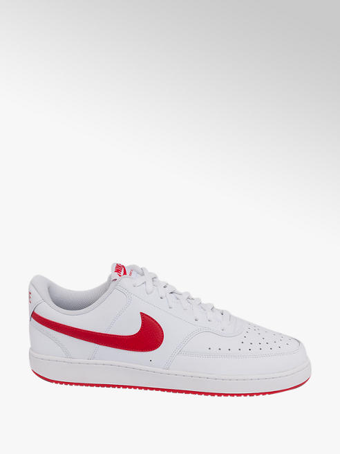 NIKE Mens Nike Court Vision Low White Lace-up Trainers