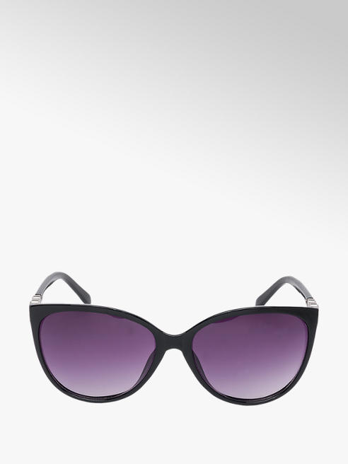 Ladies Black Cat Eye Diamante Sunglasses