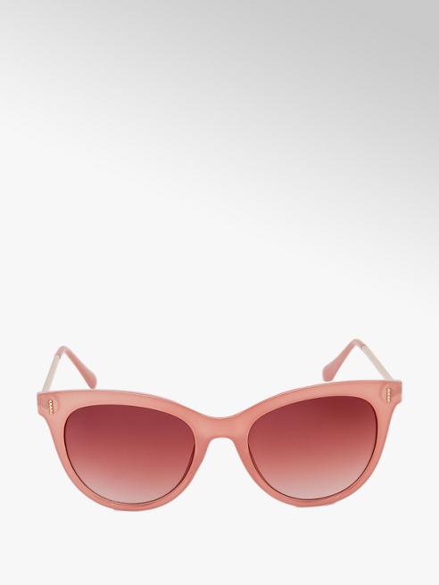 Ladies Pink Round Sunglasses