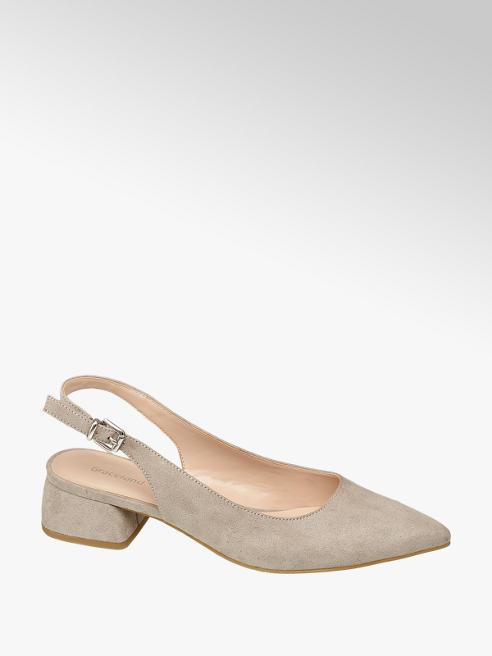 Graceland Light Grey Slingback Shoes