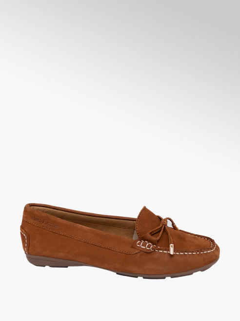 Hush Puppies Ladies Hush Puppies Leather Comfort Moccasins