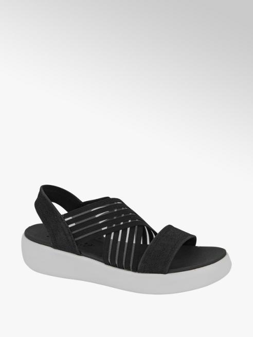Skechers Zwarte sandaal elastiek