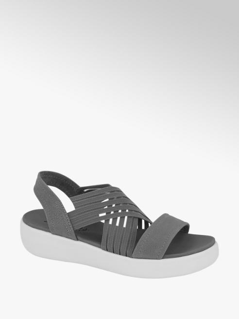 Skechers Grijze sandaal elastiek