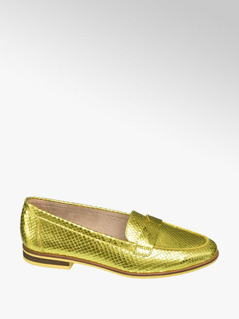 Star Collection Gele loafer metallic