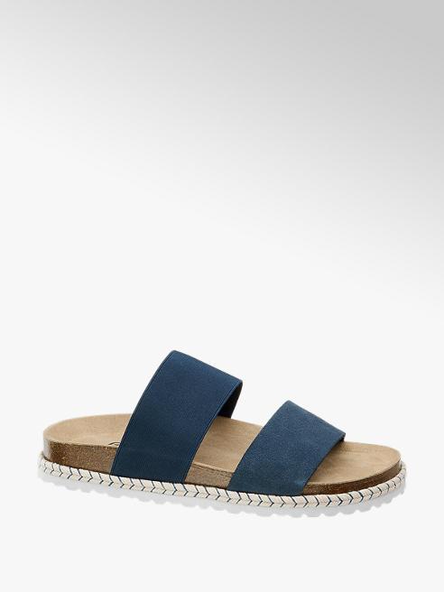 Graceland Ladies Graceland Blue Footbed Sandals
