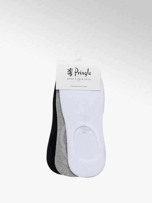 Pringle Mens 3pk Pringle Assorted No Show Socks