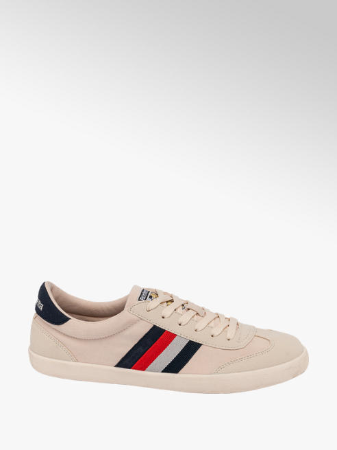 Lambretta Mens Lambretta Off White Lace-up Trainers
