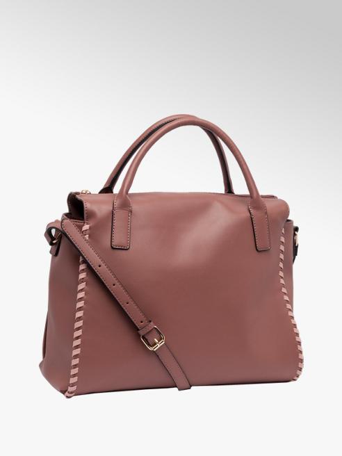 Graceland Plum Whipstitch Tote Bag